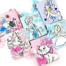Disney 時尚質感彩繪貼鑽三折鏡/隨身鏡/折疊化妝鏡/鏡子