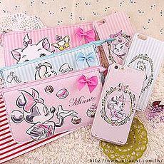 【Disney】迪士尼iPhone6 Plus / 6S Plus彩繪保護軟套+手機袋禮盒組-公主系列6.6SPlus米妮