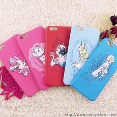 【Disney】迪士尼iPhone6 Plus / 6S Plus施華洛世奇水鑽5.5皮革保護殼-公主系列6Plus.6SPlus-瑪莉貓