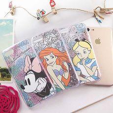 【Disney】迪士尼iPhone7施華洛世奇水鑽4.7防摔氣墊空壓保護套-米妮/愛麗絲/艾利兒