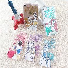 【Disney】迪士尼iPhone 7(4.7)施華洛世奇水鑽透明保護硬殼-公主系列貝兒