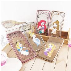 【Disney】迪士尼iPhone 6/6S Plus(5.5)電鍍彩繪保護套-公主系列貝兒