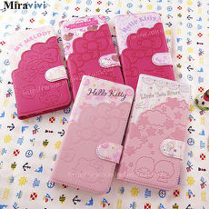 Sanrio三麗鷗iPhone 6 Plus/6s Plus(5.5吋)口袋拼接彩繪皮革筆記本式皮套豹紋Kitty