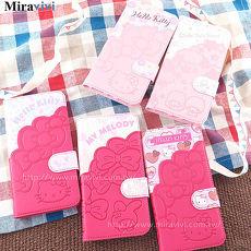 Sanrio三麗鷗iPhone 7 Plus(5.5吋)口袋拼接彩繪皮革筆記本式皮套