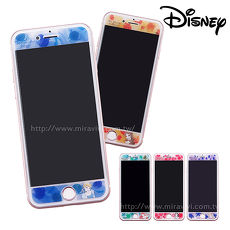 Disney迪士尼iPhone6/6s/7/8 Plus(5.5)共用 水彩渲染9H強化玻璃保護貼_公主小美人魚