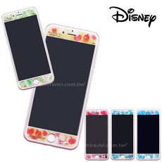 Disney迪士尼iPhone6/6s/7/8 Plus(5.5)共用 水彩渲染9H強化玻璃保護貼_經典小仙子