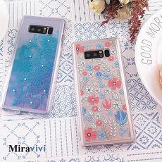 Miravivi原創時尚 Samsung Galaxy Note8施華洛世奇水鑽 花語防摔氣墊空壓保護套