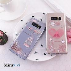 Miravivi原創時尚 Samsung Galaxy Note8施華洛世奇水鑽 永恆愛語 防摔氣墊空壓保護套