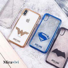DC正義聯盟iPhone X時尚質感電鍍保護套蝙蝠俠