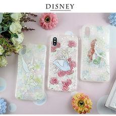 Disney迪士尼iPhone X/Xs五彩貝殼系列手機殼_花朵系列