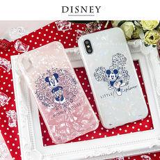 Disney迪士尼iPhone X/Xs五彩貝殼系列手機殼_復古