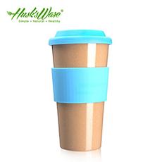 【Husk's ware】美國Husk's ware稻殼天然無毒環保咖啡隨行杯-綠松石藍