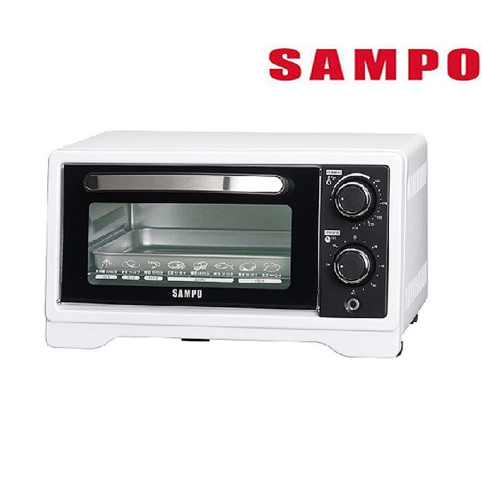 SAMPO 聲寶 9L旋鈕式定時溫控烘烤電烤箱 KZ-XF09-(特賣)