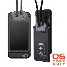 CORESUIT BADGE 證件夾+風格手機掛繩+iPhone6/6s 4.7吋手機殼-黑